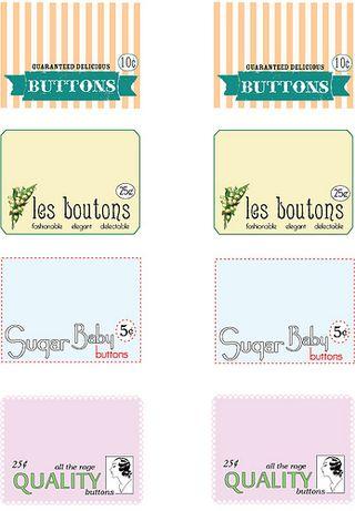 FREE Vintage Button Labels