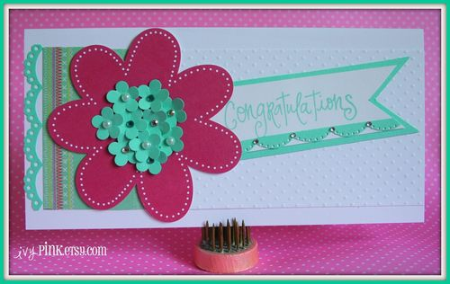ivyPINK Congratulations Stamp