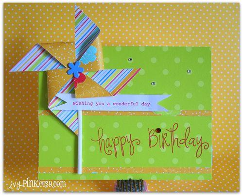 ivyPINK Happy Birthday Stamp