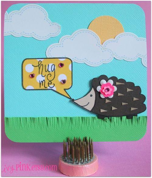 ivyPINK Hedgehog Stamp