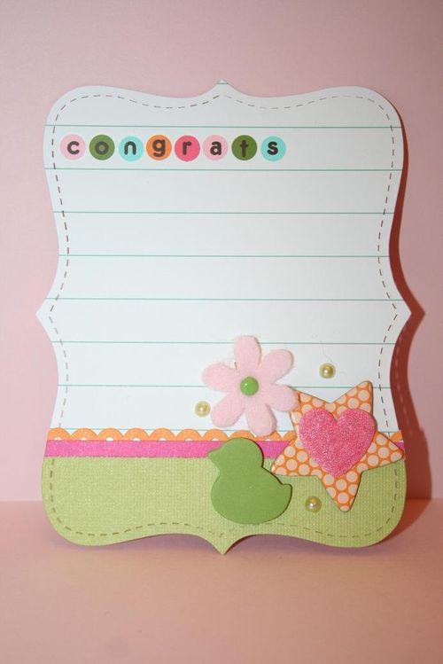 Quick Cards-Congrats Baby