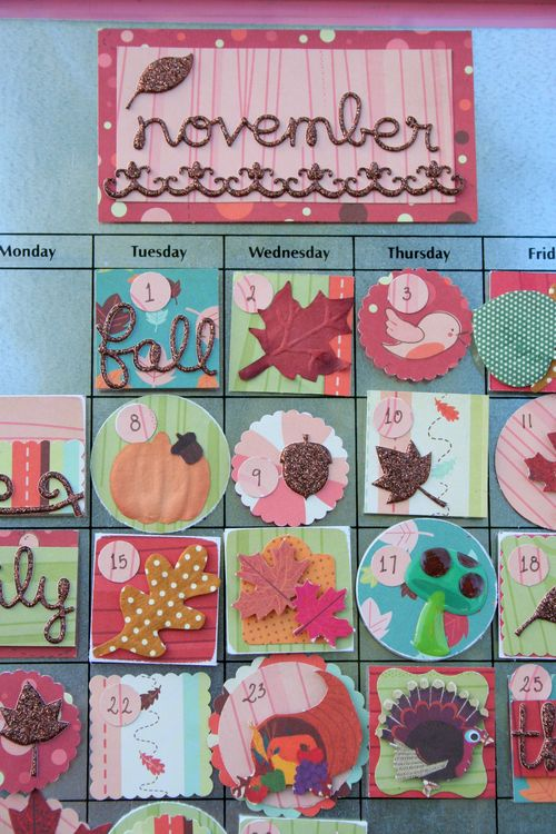 November Calendar Details